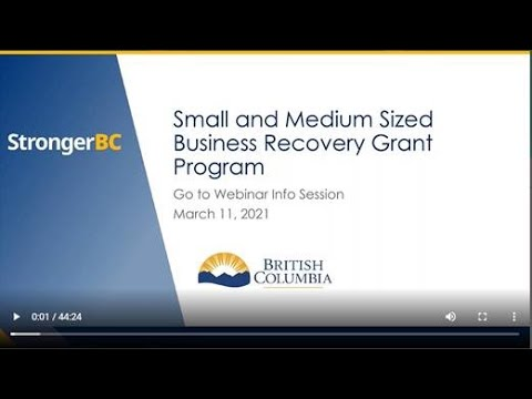 B.C. Business Recovery Grant Program Explained