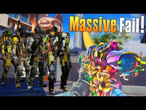 MASSIVE FAIL! (Infinite Warfare Beta Funny Moments) Fails, Rage, Almost Quad Feeds! - MatMicMar