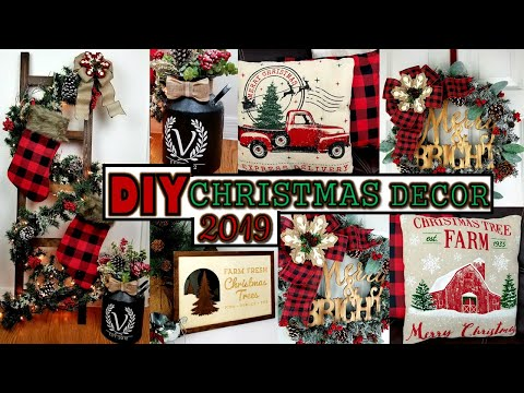EASY DIY's Christmas Decor 2019 | Budget Friendly Christmas Home Decor Ideas | Buffalo Check