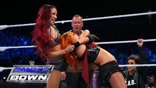 vuclip Charlotte & Becky Lynch vs. Naomi & Sasha Banks: SmackDown, Aug. 6, 2015