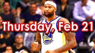 NBA DraftKings Picks + FanDuel Picks 2/21/2019