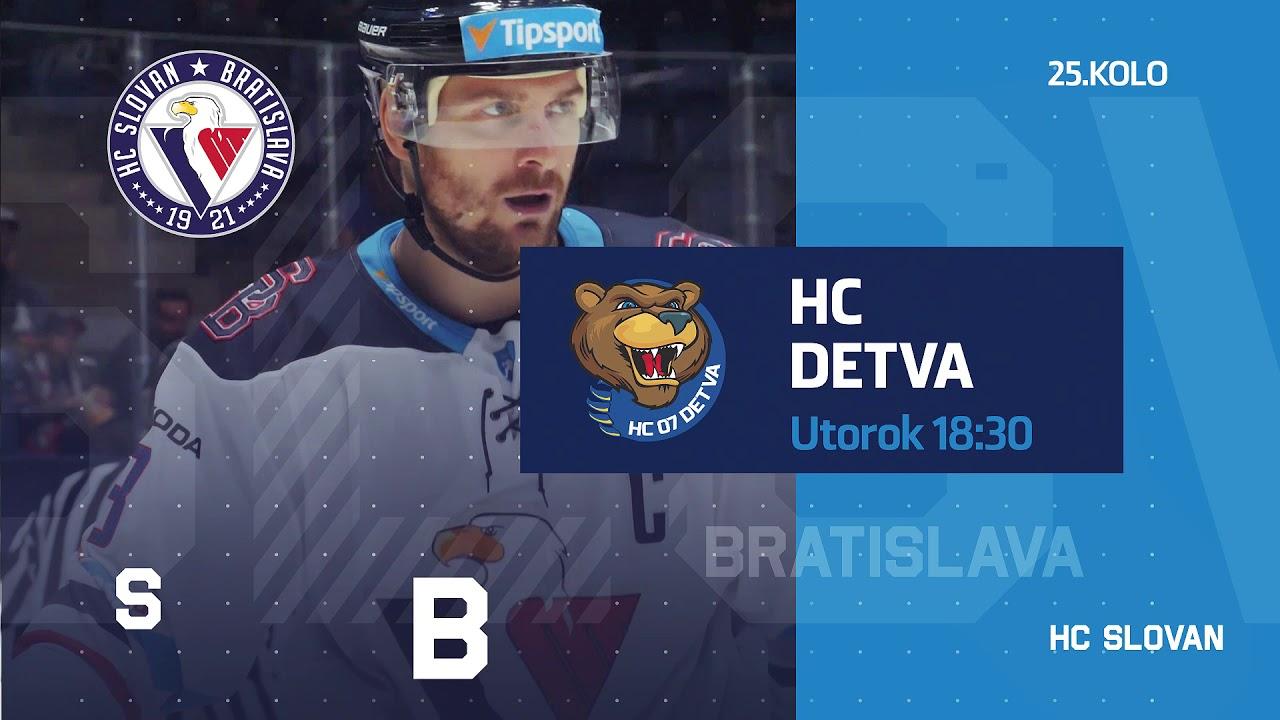 Pozývame Vás na domáci zápas HC SLOVAN Bratislava - HC 07 WPC Koliba Detva (26.11.2018 o 18:30 h).