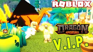 ROBLOX DRAGON ADVENTURES VIP! What Do You Get!? VOLCANO Egg Hunt, 3 DRAGONS!