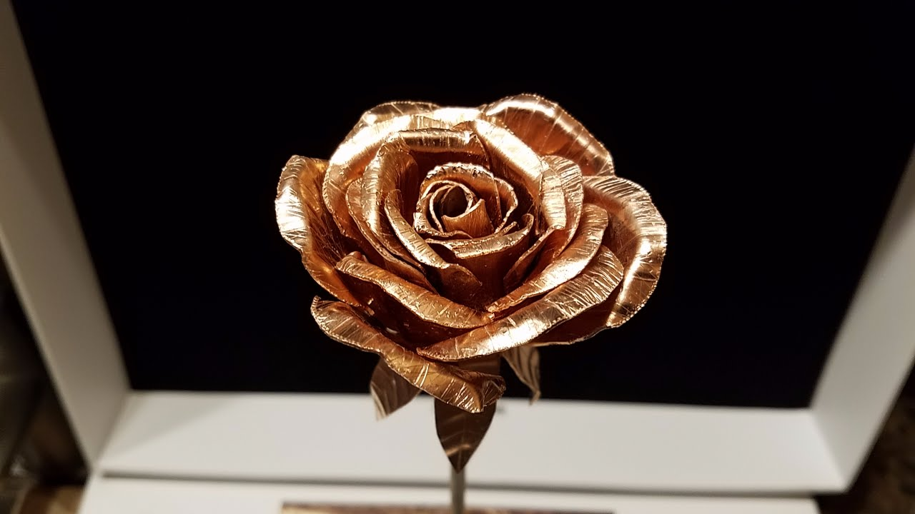 DIY Metal Rose Copper