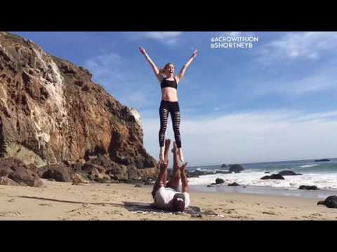 Courtney Shortney and Jonathan Rea Circus Acrobatics Icarian Games Risley Performers