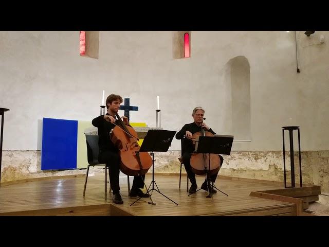 Peter Thiemann i Guillaume Terrail a Santa Cecília de Montserrat