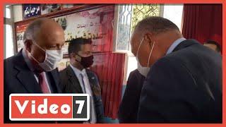 فيديو وصور.. وزير الخارجية يدلى بصوته فى انتخابات الشيوخ بالقاهرة الجديدة - اليوم السابع