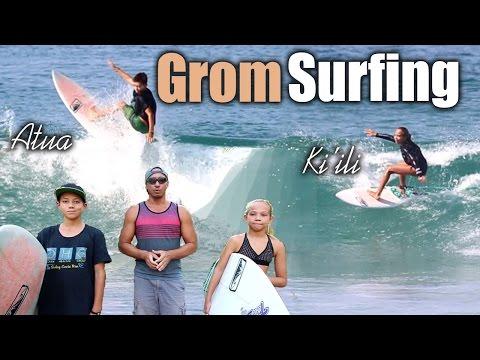 Focused Surfing Session - Groms Atua & Ki