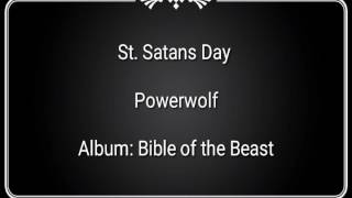 St Satan 39 s day Powerwolf Lyrics