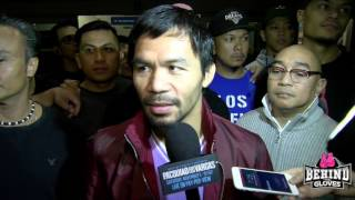 MANNY PAQUIAO ARRIVES @ LAX MOBBED BY MEDIA AND FANS AHEAD OF JESSIE VARGAS FIGHT