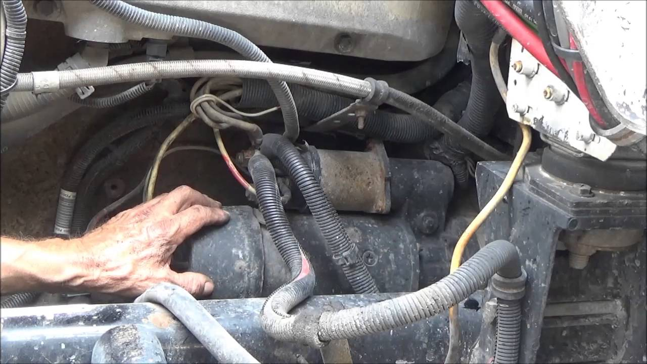 Changing starter on a big truck  YouTube
