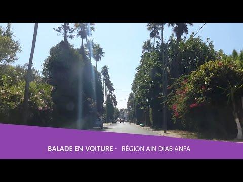 Balade voiture 🚘  Région Ain Diab Anfa Casablanca Maroc