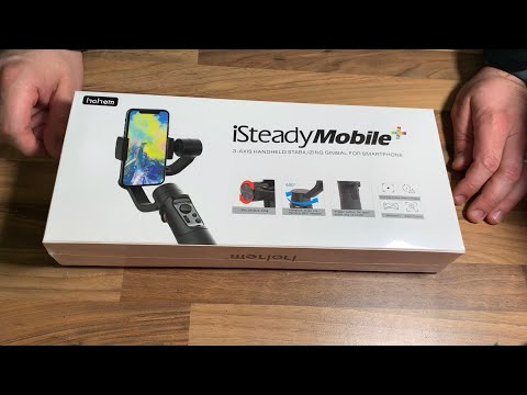 3-Axis Gimbal Stabilizer f. Apple iPhone 11 X XS Hohem Isteady Mobile Plus Unboxing and instructions