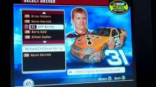 All NASCAR 06: Total Team Control Drivers/Cars/Paint Schemes (Nextel Cup)