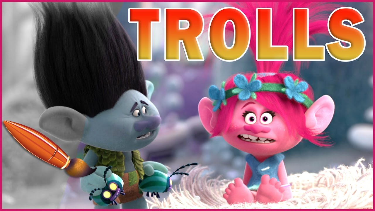 Coloring Pages Trolls : Poppy and branch trolls movie kids coloring book coloring