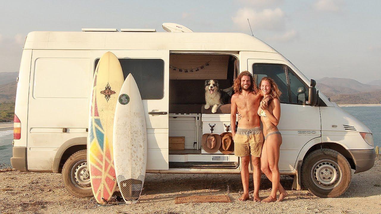 VAN LIFE TOUR ft. Max & Lee // surfer couple lives in DIY sprinter van conversion