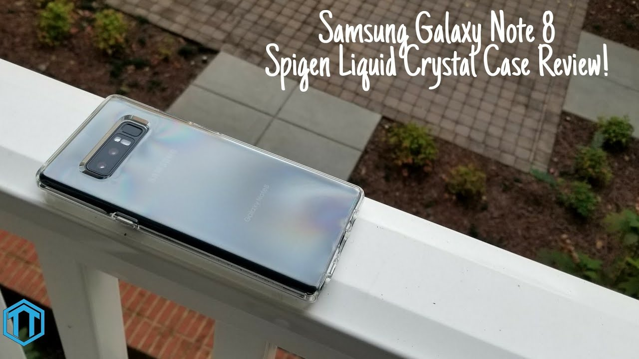 check out 749c5 4bbf0 Samsung Galaxy Note 8 Spigen Liquid Crystal Case Review!