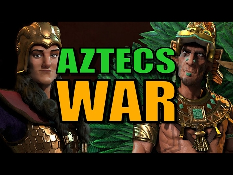 AZTEC REVENGE ON THE WEST! | Civilization 6: Aztec Gameplay [Civ 6 Let's Play Strategy] - Part 10
