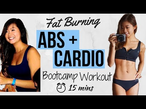 15 min Intense Ab + Cardio No Equipment BOOTCAMP Workout | Intense Fat Burning for Flat Belly