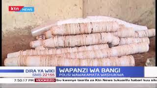 Watu 3 watiwa mbaroni Kiambu na maafisa wa usalama baada ya kupatikana wamepanda bangi