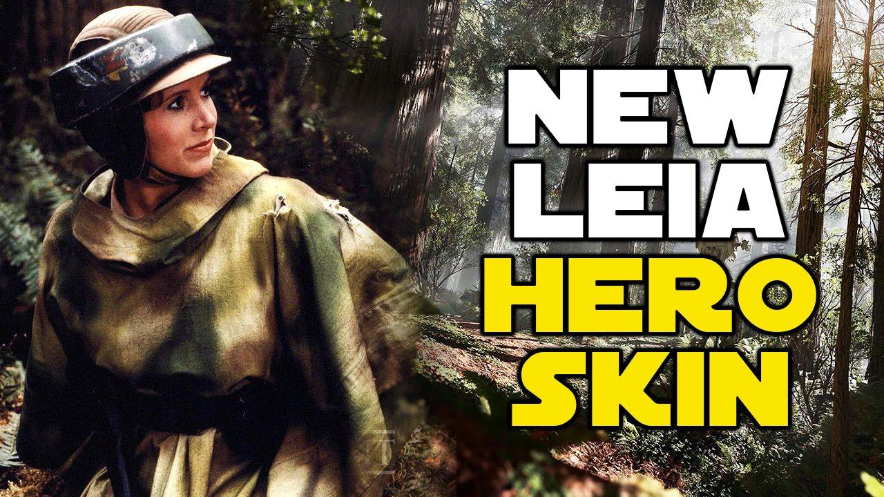 Star Wars Battlefront New Hero Skins Leia Endor Outfit  sc 1 st  YouTube & Star Wars Battlefront New Hero Skins Leia Endor Outfit - YouTube