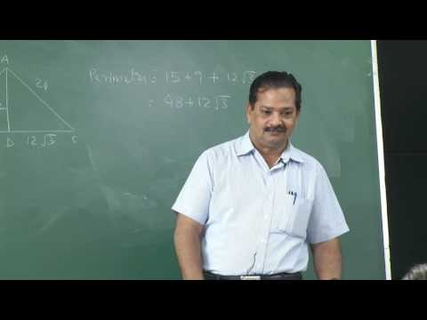 M. S. Pawar's Lecture on Fundamental of Geometry for JRF NET of CSIR Part 2
