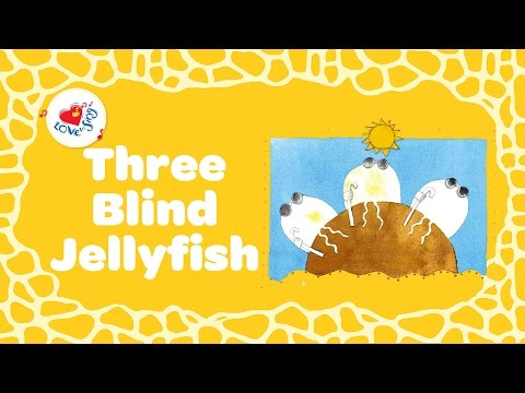 Three Blind Jellyfish Song  Sing along lyrics  Children Love to Sing
