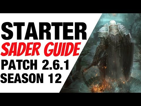 Patch 2.6.1 Crusader Starter Build Guide Season 12 Diablo 3