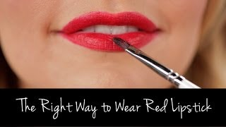 The Right Way to Wear and Apply Red Lipstick | Tutorial