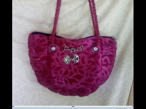 how to make ladies hand bag at home