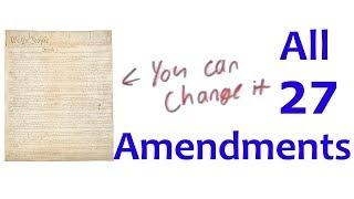 ALL 27 AMENDMENTS (in four minutes)