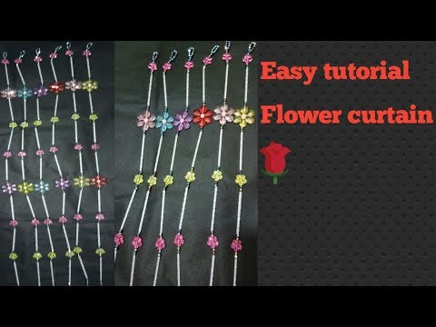 #Diy how to make flower curtain full making video in hd