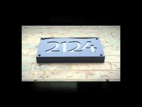 led illuminated front lit house number address sign