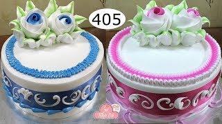 chocolate cake decorating bettercreme vanilla (405) Học Làm Bánh Kem Đơn Giản Đẹp - Xanh  Hồng (405)