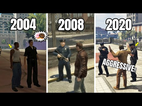 EVOLUTION OF COPS LOGIC IN GTA GAMES (2004 - 2020) | GTA SA VS GTA 4 VS GTA 5