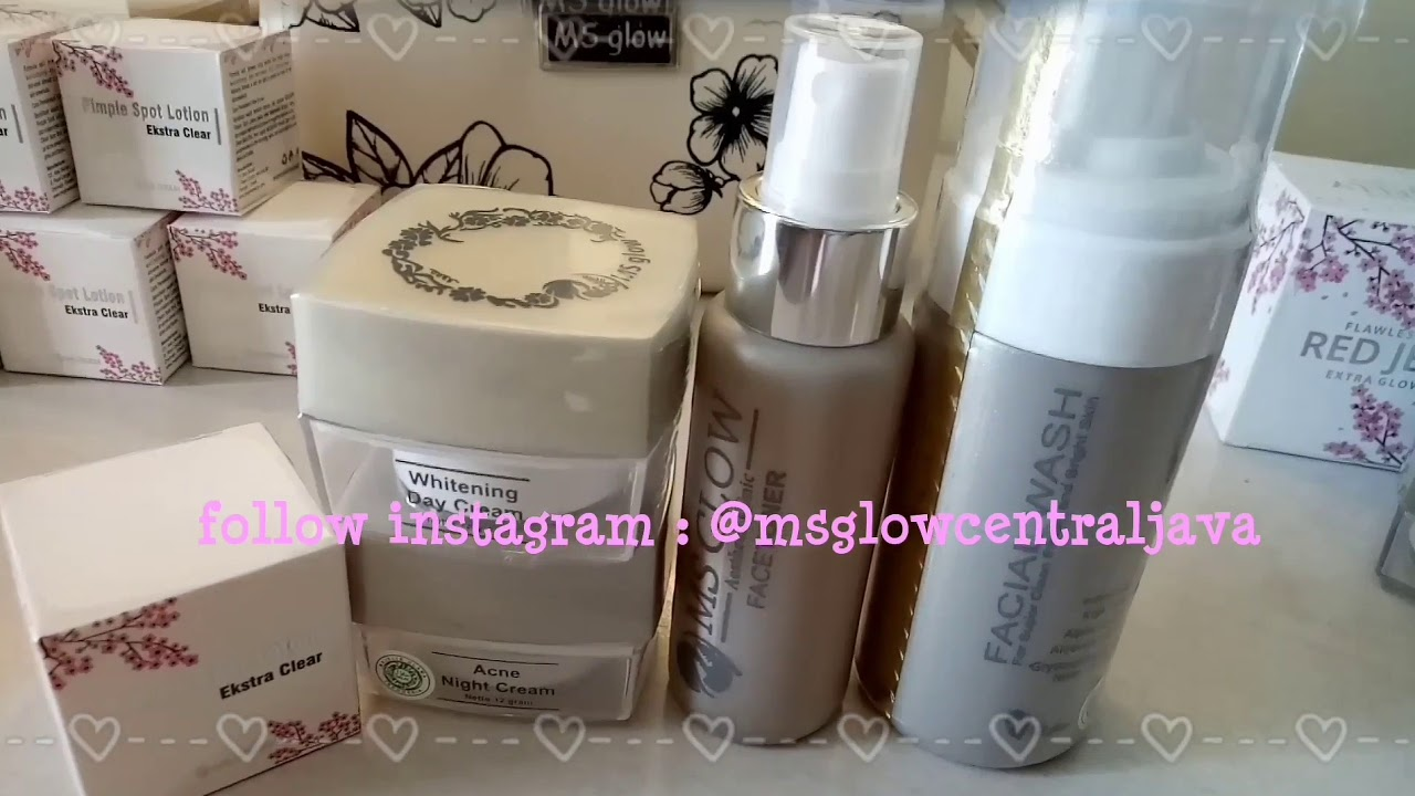 Review Ms Glow New Packaging Kemasan Baru Ms Glow Paket Wajah Red Jelly Salep Acne Original Youtube