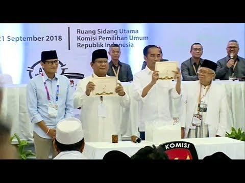 Reaksi Jokowi & Prabowo, Saat Pengundian Nomor Urut Pilpres 2019