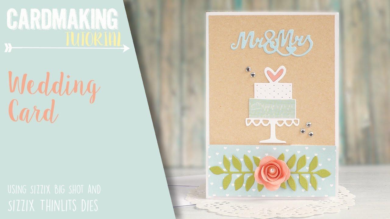 How To Make a Wedding Card or Invitation Sizzix Big Shot YouTube