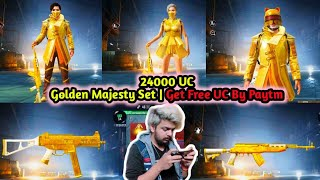 Golden Majesty Set | Most Luckiest Crate Opening With Free Uc Trick | 4KingGuruOP