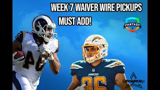 Fantasy Football Top Players for Week 7 Waiver Wire Pickups [MUST ADDS]