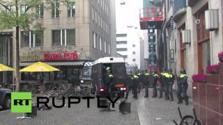 Netherlands: AMSTERDAMAGE! Fenerbahce fans clash with police ahead of match