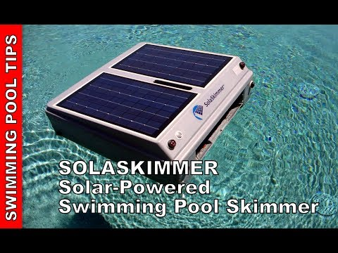SolaSkimmer Solar-Powered  Robotic Swimming Pool Skimmer- MSRP $399.00!