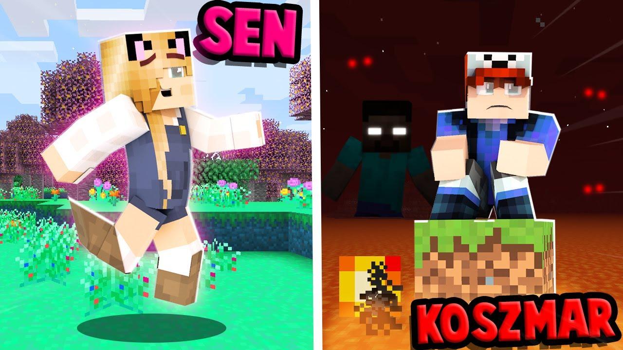 SŁODKI SEN vs KOSZMAR w Minecraft! | Vito i Bella