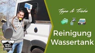 Wassertank Reinigen im Wohnmobil / Wohnwagen - Wasserhygiene ganz einfach!
