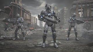 Война танцующих роботов. Балдежное видео.