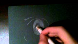 How To Draw #5: Anime Eyes(Black Paper-Itachi Uchi