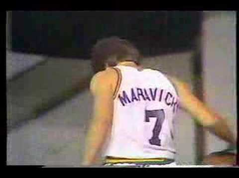 Pistol Pete Maravich plays HORSE