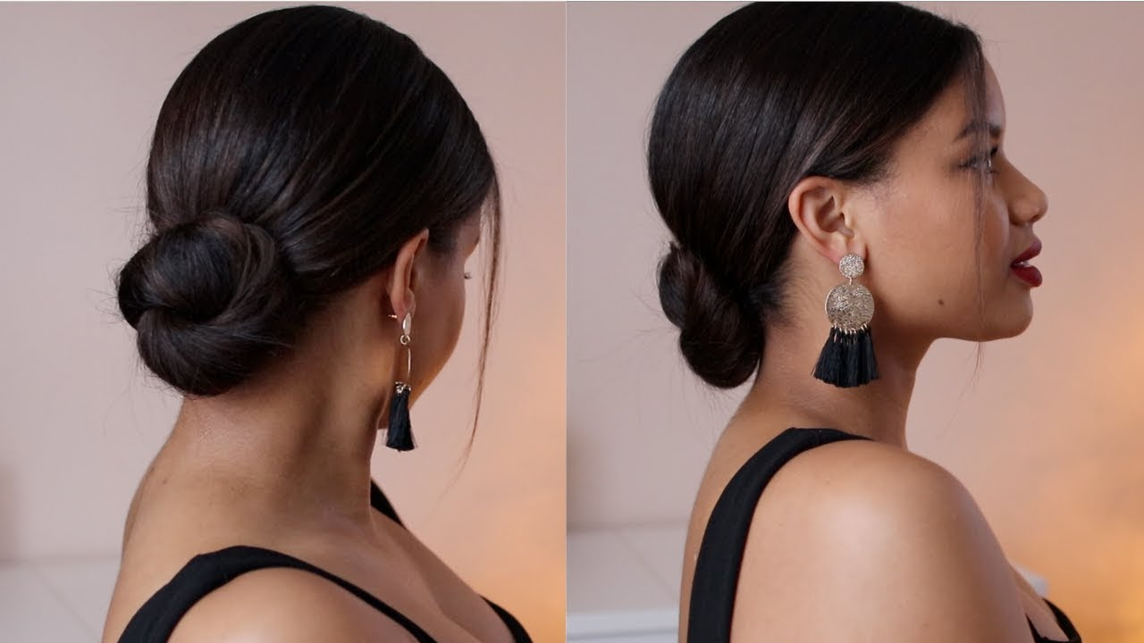 aveda how-to | holiday inspired sleek low bun tutorial with