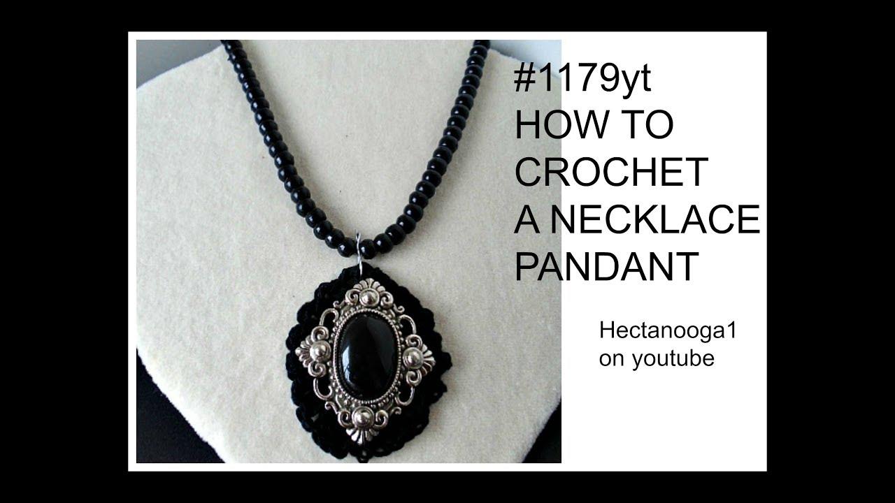CROCHET, Black Pendant- crochet jewelry, jewellery, jewelery, - YouTube