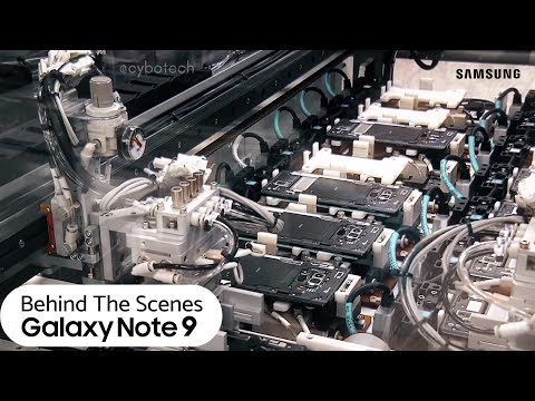 Samsung Galaxy Note 9 Behind The Scenes Video From Samsung's Factory